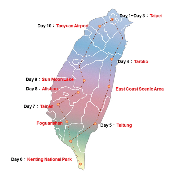 10 Day Taiwan National Parks