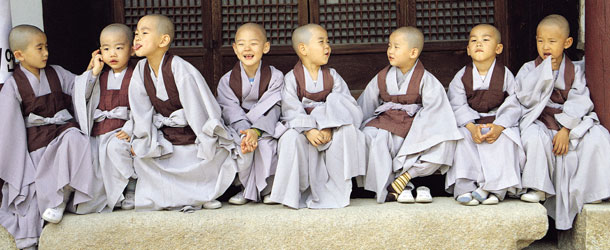 Boys at Temple, South Korea