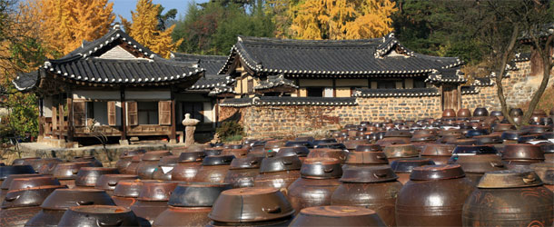 Hanok traditional houses, South Korea